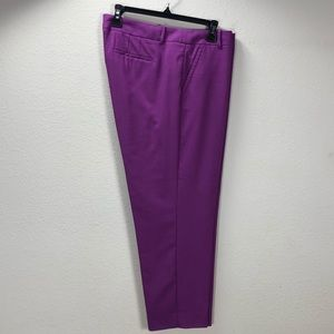 "J. Crew ""Skimmer"" Purple Wool Skinny Pants"